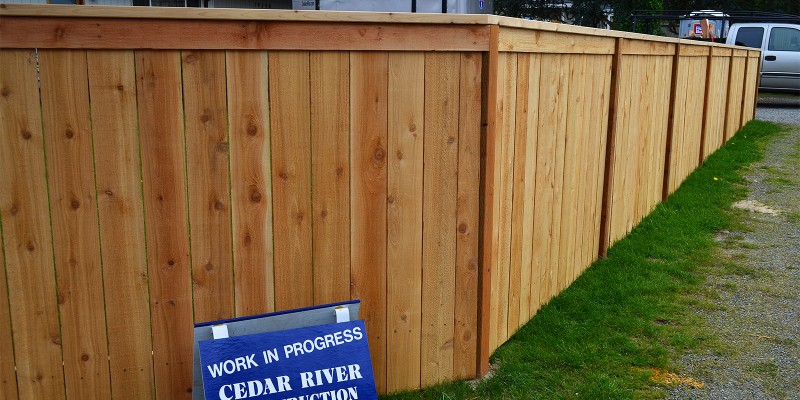 4ft Tall Cedar Panel Fence with Continuous Top